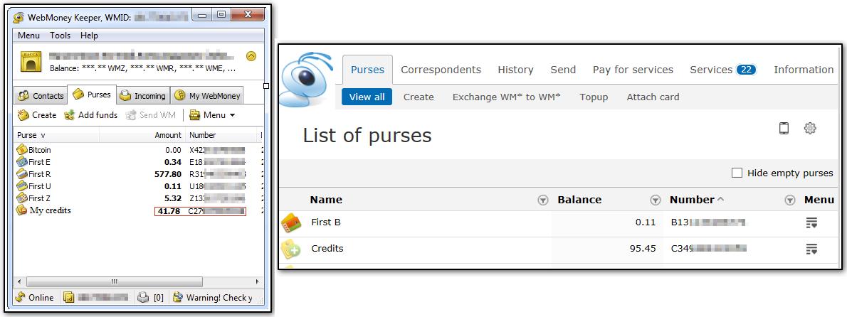 wmtransfer com / Help / General / When purse is blocked