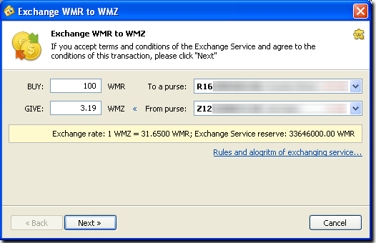 wmtransfer com / Help / Financial / Exchange Operations